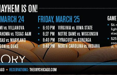 College basketball Chicago sports bar